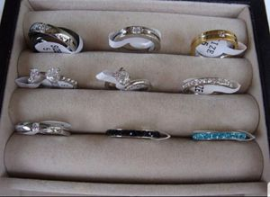 VERY LOW PRICE!!!! LOT OF 9 WOMEN'S FASHION RINGS AAA CZ, WEDDING, BAND, ENGAGEMENT, for Sale in Fontana, CA