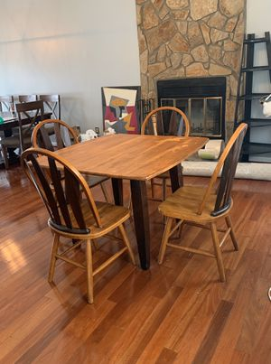Kitchen table - solid wood for Sale in Raleigh, NC