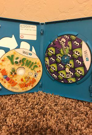 Splatoon and Yoshis Wooly World Nintendo Wii U for Sale in Mesa, AZ