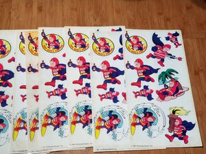 Vintage 1987 bud man stickers 13 sheets for Sale in Pasadena, CA