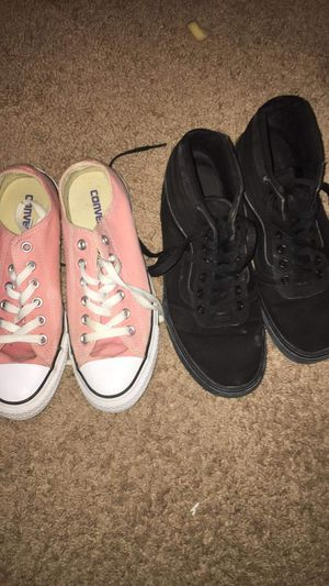 Pink converse/ Van's black for Sale in Georgetown, KY