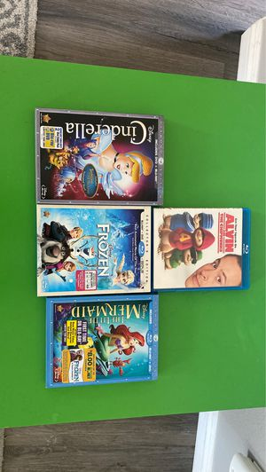Frozen, Mermaid, Cinderella...Movies (blue-ray) for Sale in Perris, CA