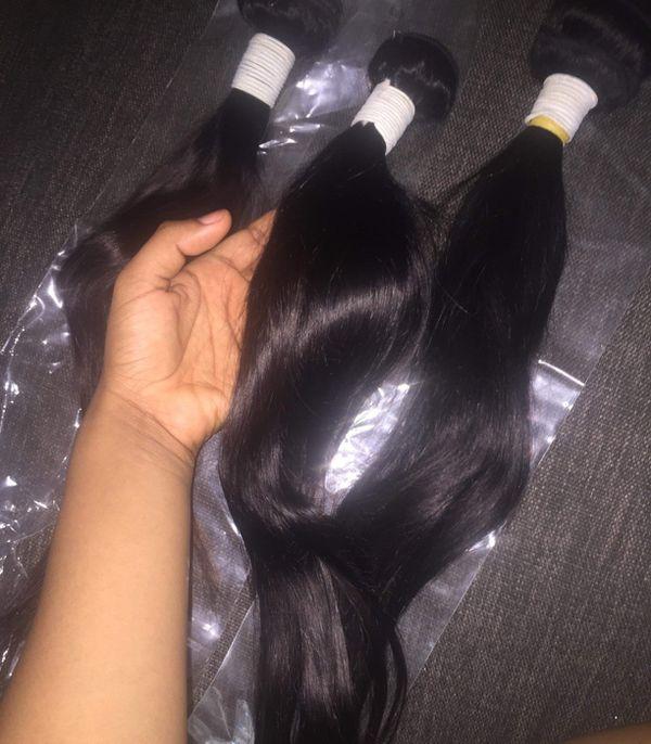 16 18 20 inch Silky Straight 8A Brazilian bundles