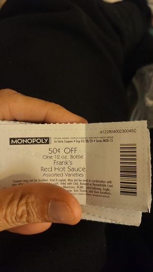Monopoly coupons for Sale in Lakewood, WA