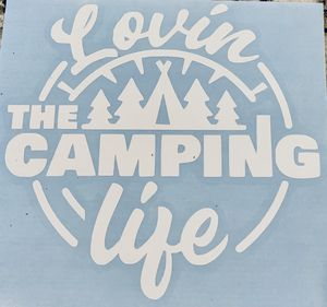 Lovin' Camping life Decal for Sale in Poulsbo, WA