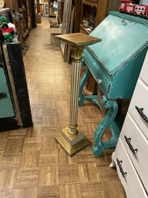 "Vintage antique gold gilt pedestal plant stand 32"" pick up la Mesa for Sale in San Diego, CA"
