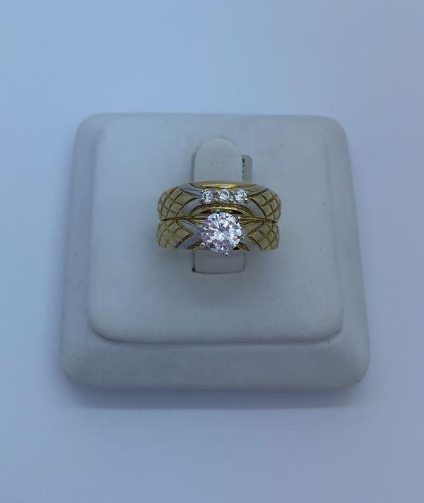 Wedding ring cz 10k