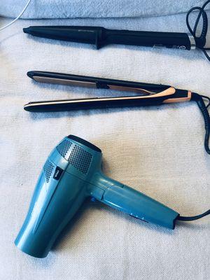 Hair dryer, hair straightener, GHD hair tongs for Sale in Playa del Rey, CA