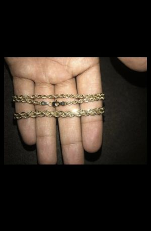 Gold chains and gold ring for Sale in San Bernardino, CA
