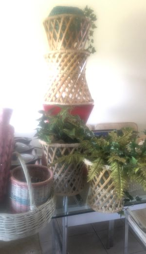 You need basket include artificial plant all for for Sale in Azalea Park, FL