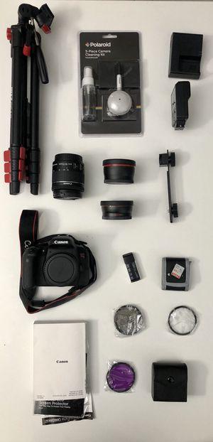 3 Lens - Canon T7i DSLR Camera Bundle for Sale in Kent, WA