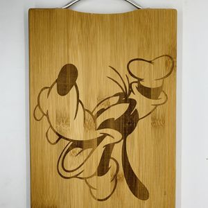 Goofy Disney laser engraved bamboo high quality cuttingboard valentines gift for Sale in Los Angeles, CA