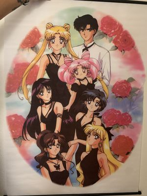 Sailor Moon roll scroll fabric poster for Sale in Irvine, CA