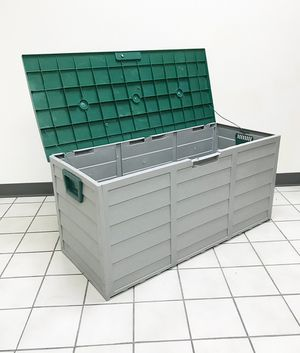 """New $45 each Plastic Storage Box 70 Gallon Outdoor Durable Plastic Shed Waterproof 44""""x19""""x21"""" for Sale in Whittier, CA"""