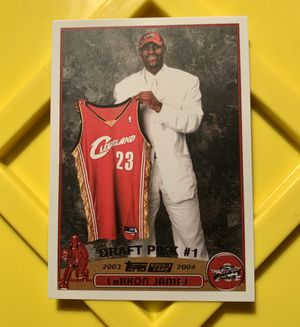 LEBRON JAMES ROOKIE BASKETBALL CARD for Sale in Eugene, OR