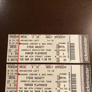 Steve Hackett Tickets for Sale in Hollywood, FL