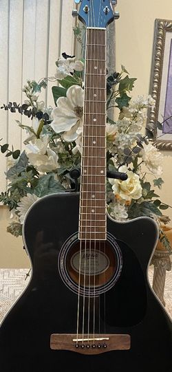 black mitchell electric acoustic guitar with built in tuenr for Sale in Downey,  CA