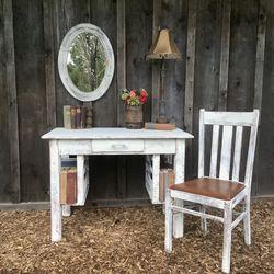 """Shabby Chic"" Vintage Farmhouse Desk for Sale in Hillsboro,  OR"