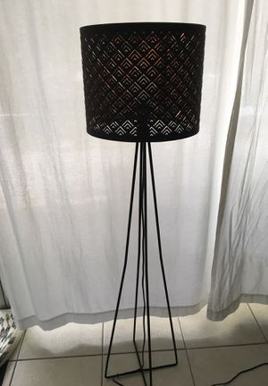 IKEA guilded Black floor lamp for Sale in Pinecrest, FL