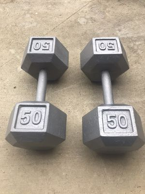 Dumbbells Weights 50lb for Sale in Fountain Valley, CA