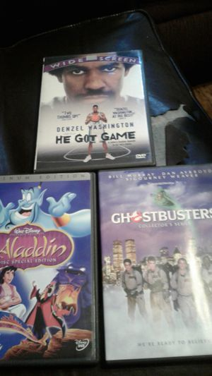 Aladdin DVD Also Ghostbusters And He Got Game Assorted for Sale in Fresno, CA