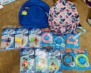 Beach floaties and back packs for Sale in Auburn, WA