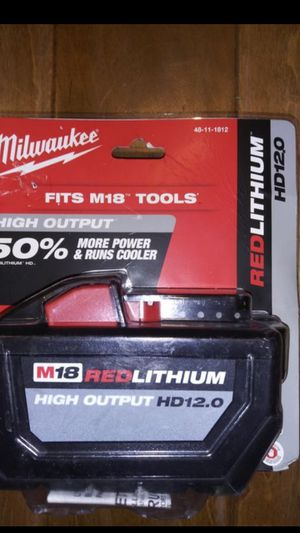 MILWAUKEE M18 RED LITHIUM HIGH OUTPUT HD 12.0 for Sale in East Compton, CA