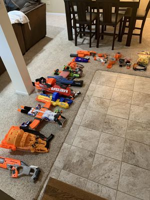 Huge lot of Nerf guns and accessories for Sale in Downers Grove, IL