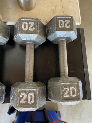 1 pair dumbbell 20lbs good condition pick up only for Sale in Ontario, CA
