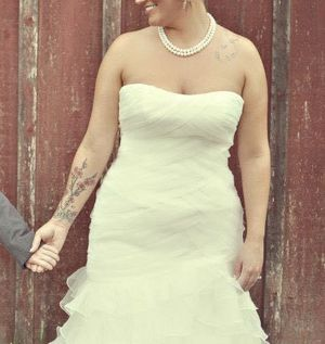 Fit/flare Wedding dress. Size 12 for Sale in Puyallup, WA