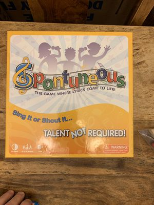 Board Game! SPONTUNEOUS for Sale in Sacramento, CA