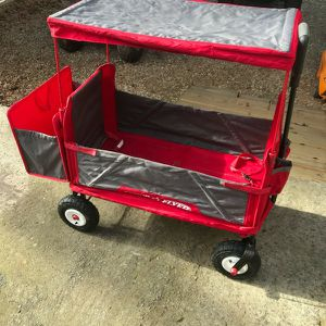 Radio Flyer 3 in 1 EZ Fold Wagon with Canopy - Red for Sale in Williamston, SC
