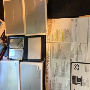 Owner Manuals For 2003 Infiniti Fx35 Package for Sale in Los Angeles, CA