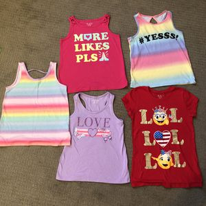 Girls Size 7-8 short sleeves/ tank top for Sale in Seattle, WA