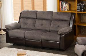 3PC – 2 Tone Grey Microfiber/PU Reclining Sofa Set $609.00 for Sale in Seattle, WA