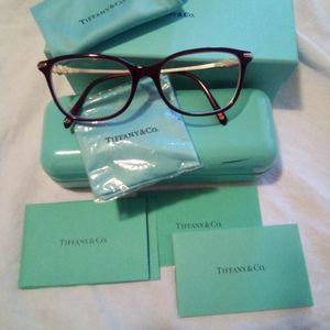 Tiffany & Co TF 2133-B-F 8003 Burgundy Eyeglasses Frame 53-16-140 Italy Pre-owned Excellent Condition for Sale in Moreno Valley, CA