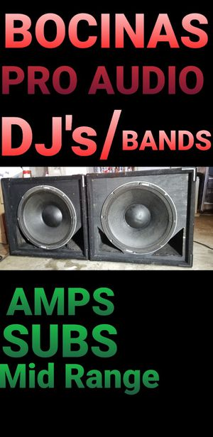 PRO AUDIO FOR DJ'S, BANDS, VENUES for Sale in San Diego, CA