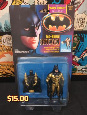 Batman Dark Knight Movie TEC SHIELD Batman Vintage Action Figure 1990 New for Sale in Alameda, CA
