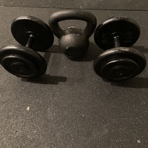 Kettlebell And Pair Of Dumbbells for Sale in Portland, OR