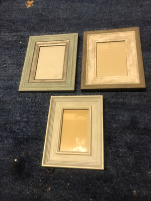 Set of 3 new picture frames- 2 - 4 ½ x 6 1- 3 ½ x6 for Sale in Sunnyvale, CA