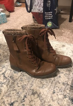 Mid ankle brown combat boot for Sale in Houston, TX