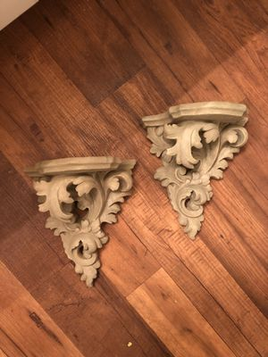 Two beautiful ornate wall sconces/wall shelf for Sale in San Clemente, CA