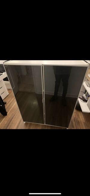 Closet Shelves Wide with black mirror doors for Sale in Los Angeles, CA