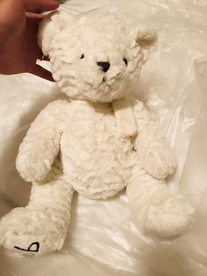 Dennis Basso Winter White Teddy Bear Plush Toy with Scarf for Sale in Salt Lake City, UT