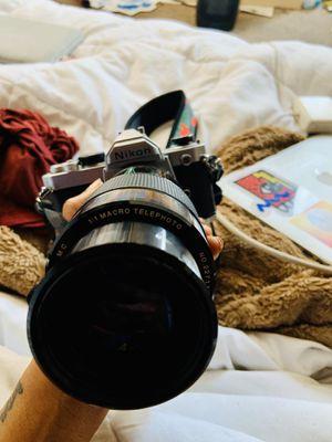 Vintage Nikon Film Camera with 100 mm Lens for Sale in Berkeley, CA