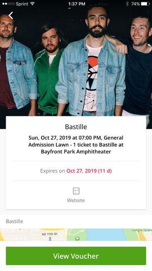 Bastille concert tickets for Sale in Hobe Sound, FL