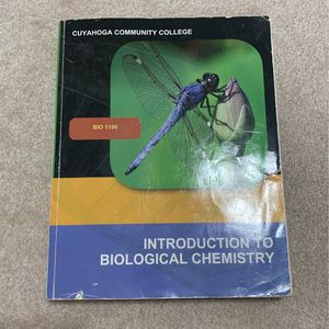 Introduction To Biological Chemistry for Sale in Brunswick, OH