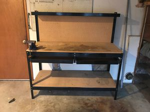 FREE - Workbench: Metal/Wood w/vice for Sale in Woodway, WA