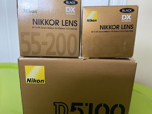 Nikon D5100 with lens for Sale in Charlottesville, VA