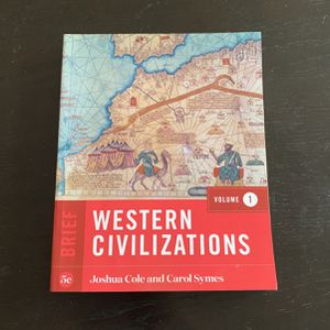 Western Civilization Textbook for Sale in Riverhead, NY